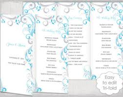 tri fold wedding program templates lace wedding program template antique lace diy