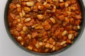 baked beans with ground beef and sausage recipe
