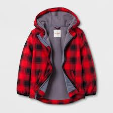 Bench Boys Coats Toddler Boys U0027 Softshell Jacket Buffalo Plaid Cat U0026 Jack Red