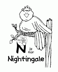 letter n alphabet coloring pages for kids letter n words
