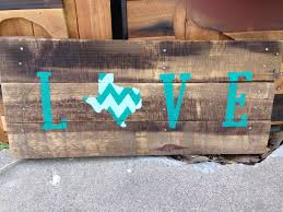 texas flag love pallet sign texas decor gift for him gift