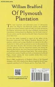 plymouth plantation book of plymouth plantation dover value editions