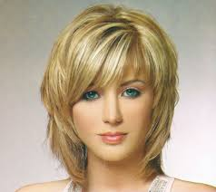 medium length choppy haircuts layered around face ideas skin