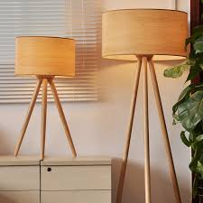 Wooden Floor Lamp Wood Tripod Floor Lamp With Tripod Flooring Lamps And Table And