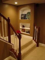 Small Basement Ideas On A Budget I Like The Idea Of Opening Up The Bottom Of The Stairs For The