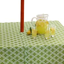 Tablecloth For Patio Table With Umbrella by Pretty And Practical Outdoor Tablecloths