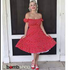 50s style red u0026 white polka dot plus size peasant top on off the