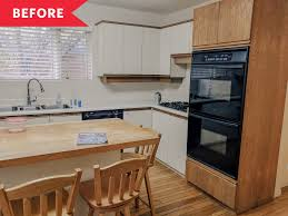 what color cabinets look with oak trim white kitchen painted cabinet redo budget kitchen makeover