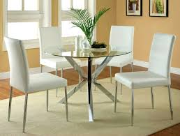 furniture charming round glass kitchen tables and chairs dining