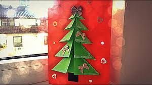 very easy diy crafts for winter 3d pop up christmas tree card