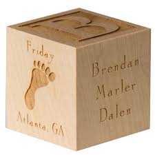 engravable baby gifts personalized baby block wooden baby block unique baby gift