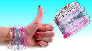 how to make aqua sparkle glitter bracelets fun diy crafts