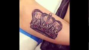 beautiful crown tattoo designs youtube