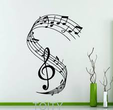 wall ideas music wall decor music themed room decorating ideas music notes wall decor and art music wall art decals treble clef wall decal notation musical notes music recording studio vinyl sticker home interior