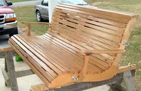oak porch swing