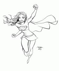 supergirl coloring pages kids adults coloring