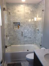 Shower Door Tub Remarkable Glass Enclosed Tub Shower Combo Contemporary Best