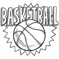 Free Coloring Sheet Of Basketball For Kindergarten Sports
