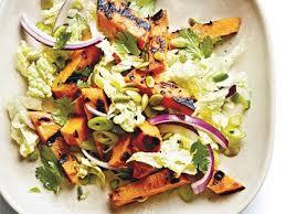 napa salad grilled sweet potato napa cabbage salad lime vinaigrette