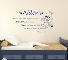 personalized name decal for boys winnie the pooh wall decal zoom