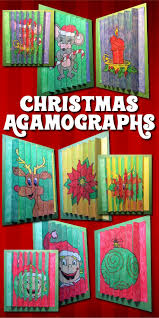 christmas crafts and activities three color by number agamographs