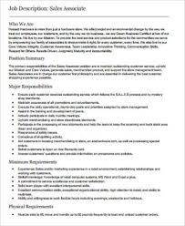 Sample Of Resume For Sales Associate by Store Associate Job Description Resume For Sales Associate Sales