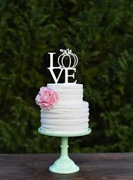 fleur de lis wedding cake fall wedding cake topper pumpkin cake topper love cake topper
