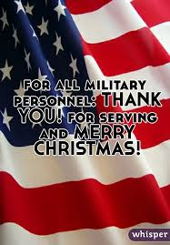 military personnel serving merry christmas