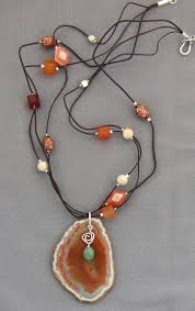 agate jewelry necklace images Agate geode druzy jewelry may birthstone jewelry jpg