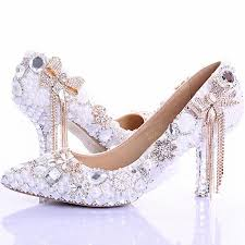 wedding shoes auckland pointed toe high heels new arrival white pearl wedding shoes