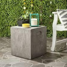 Green Accent Table Cube Concrete Accent Table West Elm