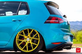 Volkswagen Gti Mk7 Vfs 6 Custom Gold Vossen Wheels 2016