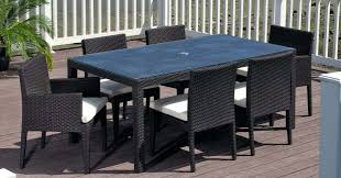 Glass Top Patio Dining Table Patio Bar Sets Clearance Furniture Vinyl Wicker Chairs Outdoor