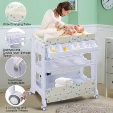 Changing Table For Baby Costway Rakuten Costway Baby Infant Bath Changing Table