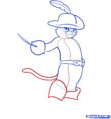 draw puss boots shrek step step characters pop
