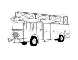 unique comics animation fire truck coloring pages