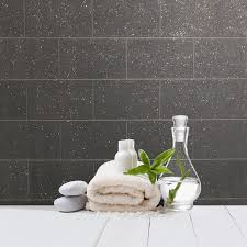 glitter wallpaper bathroom crown london tile black glitter wallpaper m1055