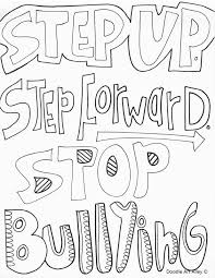 No Bullying Coloring Pages peaceful design ideas free printable anti bullying coloring pages no