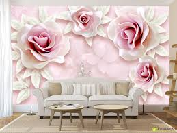 wall murals digital wallpaper roses on a pink background in wall murals digital wallpaper roses on a pink background in art style fototapet art digital photo wallpaper murals are an excellent way to instantly