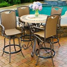 patio furniture patio table andhairsc2a0 high set with