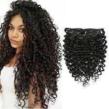hair clip ins afro curly 4a 4c clip in human hair extensions