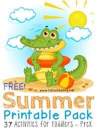 free summer printable pack for toddlers prek totschooling