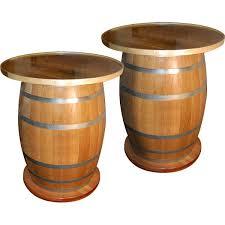 Barrel Bar Table 50 Gallon Barrel Tables Set Of 2 Wine Barrel Pub Table Sosfund