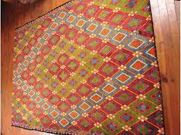Oriental Decor Large Kilim Rug Red Hand Woven Turkish Kilim Carpet Bohemian