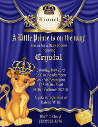 lion king baby shower invitations royal prince lion king baby shower invitations sold in sets of 10
