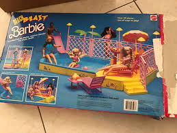 Beach Patio Barbie Beach Blast Pool Vintage Very Rare Barbie