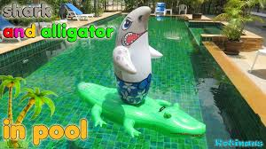 Custom Pools By Design by Shark And Alligator In Pool Toys For Kids Crocodile Vs Shark