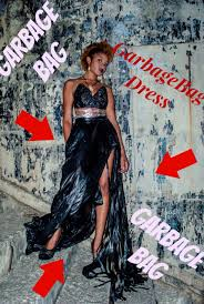 garbage bag dress stylish dress made by jeremy scott out of