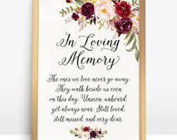 in loving memory items in loving memory etsy