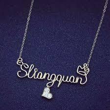 Custom Necklace Pendants Aliexpress Com Buy Personalized Custom Diy Name Necklace